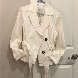 WHBM White Belted Jacket